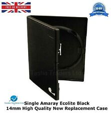 50 Single Amaray Ecolite Black 14mm DVD HIGH QUALITY NEW REPLACEMENT COVER