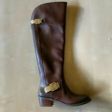 Vince Camuto Womens Brown Leather Knee High Riding Boots Size 6 M