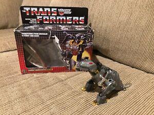 TRANSFORMERS G1 DINOBOT GRIMLOCK 1985 WITH BOX