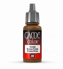 Vallejo Game Color 17ml Acrylic Paint 58 Brassy brass