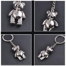 Silber Aktivitäten Bär Metall Keychain Keyfob Schlüsselbund Niedlicher Neu HOT