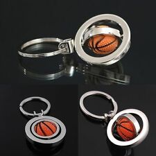 Keyring Keychain Rotating Basketball Key Chain Ring Key Fob Ball