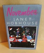Janet Hobhouse November 1st HB Vintage Novel 1987 Bohemia life fiction book