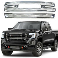 For GMC Sierra 1500 SLT AT4 Grille Overlay Grill Covers Chrome 2019 2020 2021