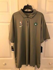 Nike Boston Celtics NBA Dri-Fit Polo Shirt Grey AV1768-002 Men Size XXL 2XL NWT