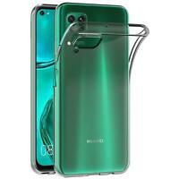 Handy Case für Huawei P40 Lite Hülle Transparent Schutz Tasche Handyhülle Cover