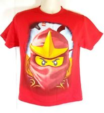 LEGO Ninjago Face T Shirt Red Boys Youth Size XXL 18 Graphic Shirt