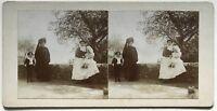 Famille Balia Foto Stereo Amateur snapshot n5 Vintage Citrato c1900