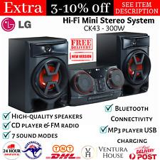 300W RMS Bluetooth Mini HiFi System FM Radio CD Player Jukebox USB Port MP3 AUX
