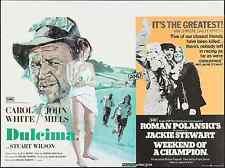 WEEKEND OF A CHAMPION British Quad movie poster 30x40 POLANSKI JACKIE STEWART