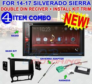 2014-2017 SILVERADO SIERRA DVD CD TOUCHSCREEN BLUETOOTH DOUBLE DIN STEREO