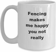 Fencing Novelty Gift Ideas Coffee Mug Cup Sports Coach Teacher Instructor Swordp