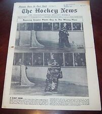 The hockey news vol 12 no.6 November 8 1958  Jacques Plante / Fern Flaman