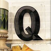 Vintage Acrylic Marquee Q Sign Plastic Display Retro Industrial