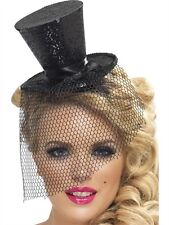 Mini Top Hat On Headband Black New Adult Halloween Cristmas Womens Accessories