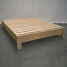 Unfinished Farmhouse Platform Bed - Twin / Wood Platform Reclaimed Bed / Modern/