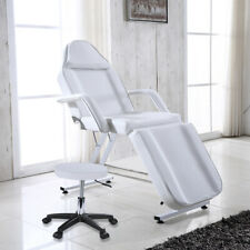 White Massage Couch Bed Chair & Stool Fit Beauty Salon Table Tattoo Therapy Tool