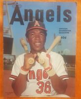 1974 CALIFORNIA ANGELS SCORECARD PROGRAM v KANSAS CITY RARE GEORGE BRETT #25