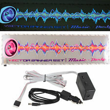 Vehicle Car Sticker Music Rhythm LED Flash Light Lamp Sound Activated Equalizer