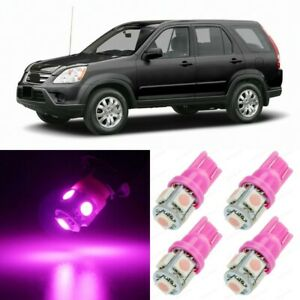 8 x Ultra PINK Interior LED Lights Package For 2002 - 2006 Honda CRV CR-V +TOOL