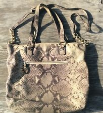 MICHAEL KORS MK Snakeskin Python Leather Purse / Cross-body /Hobo Tote Bag