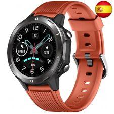 Lintelek Smartwatch Hombre Mujer, Reloj Inteligente con Monitor de Sue (Naranja)