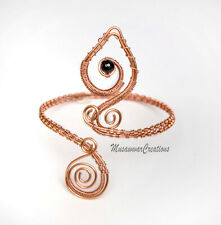 Copper wire Armlet, upper arm cuff bracelet, Armlet Wire wrapped copper ,Woven C