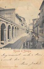 7924) RICORDO DI BOLOGNA, VIA UGO BASSI, ANIMATA. VIAGGIATA.