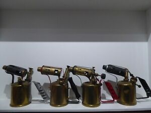 Vintage Antique Brass Blow Torch Lot. MONITOR, PHOEMAX, GOVERNOR, BLADON X4