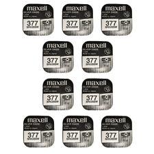 10 x Maxell Reloj De Óxido De Plata Pilas de batería de uso único SR626SW/377/AG4/626