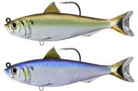 Live Target Blueback Herring 4 1/2 inch Soft Body Top Hook Swimbait Fishing Lure