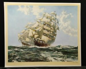 Ariel and Taeping by Montague Dawson PRINT