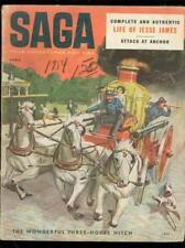 SAGA MAGAZINE APRIL 1954-JESSE JAMES-FIREMAN COVER-WW 2 G/VG