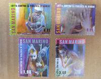 2014 SAN MARINO FIGHT AGAINST GENDER VIOLENCE SET OF 4 MINT STAMPS MNH