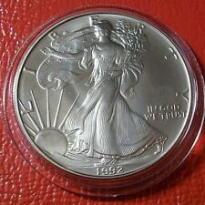 1992 1 oz Silver American Eagle in Capsule