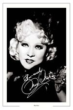 MAE WEST  AUTOGRAPH SIGNED PHOTO PRINT POSTER