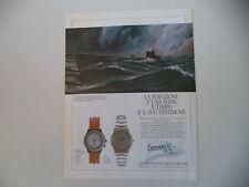 advertising Pubblicità 1989 OROLOGIO EBERHARD SIRIO/CROISIERE