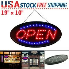 Animated Motion Ultra Bright Open Business Sign Store Led Neon Light Shop On/Off