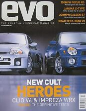 EVO 12/2000 featuring Subaru Impreza, Renault Clio V6, BMW Z8, Saleen, Bentley