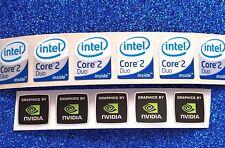 Job lot Intel Core Nvidia computer Sticker Badge  LAPTOP Logo UK