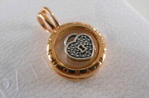PANDORA Rose Floating Locket with Love Lock. Genuine item