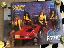1980's Miller Genuine Draft Cold Patrol Signed by models on the poster