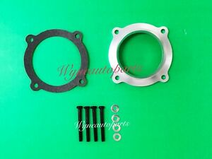 Silver Throttle Body Spacer Fit 11-18 Dodge Chrysler 3.6L V6 /12-17 Jeep Wrangle