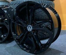 """17"""" Gloss Black VW Polo GTI GTD TCR Style Alloy Wheels 5x100 PCD VW Polo"""