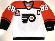 ERIC LINDROS PHILADELPHIA FLYERS 1997 STANLEY CUP CCM JERSEY WHITE LARGE NEW