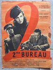 Plaquette DEUXIEME BUREAU Pierre Billon JEAN MURAT Vera Korene 1935 a