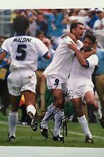Roberto Baggio & MAURO TASSOTTI doppi firmata ITALIA 12x8 PHOTO UACC AFTAL COA