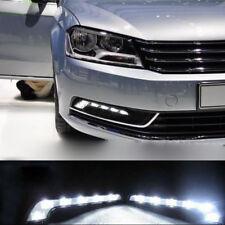 2PCS 6 LED White Car Driving Lamp Fog 12V Universal DRL Daytime Running Light
