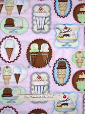 Spectrix SPX Fabric - What's the Scoop Ice Cream Sundae Frames Pink YARDS