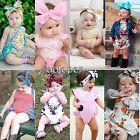 Newborn Infant Baby Girls Summer Cotton Bodysuit Romper Jumpsuit Outfits Clothes